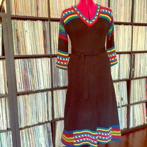amazing miss frizzle knit dress rainbow pride M 🌈